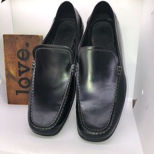 Kenneth Cole Unlisted Black Patent Leather Slip On Loafer -15